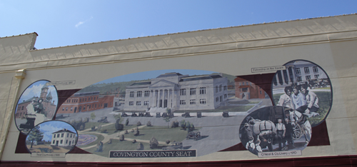 Early Covington County Courthouse Mural